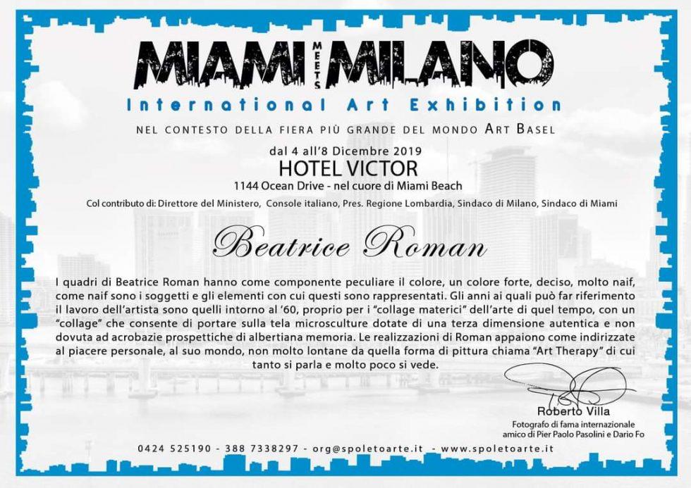 Miami Meets Milano International Art Exhibition