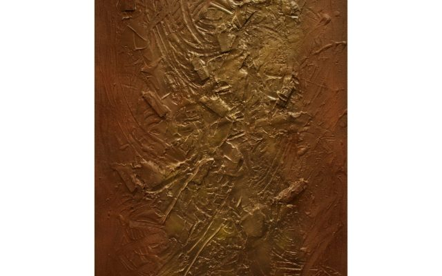 Abstract informal on canvas - Chocolate