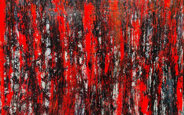 Abstract informal on canvas - Hell and Passion
