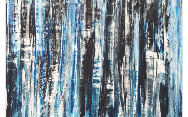 Abstract informal on canvas - I See You
