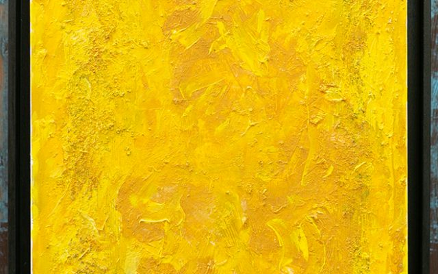 Abstract informal on canvas - Yellow tribute