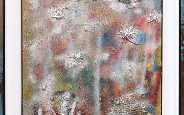 wood collage art - Aquarium 1