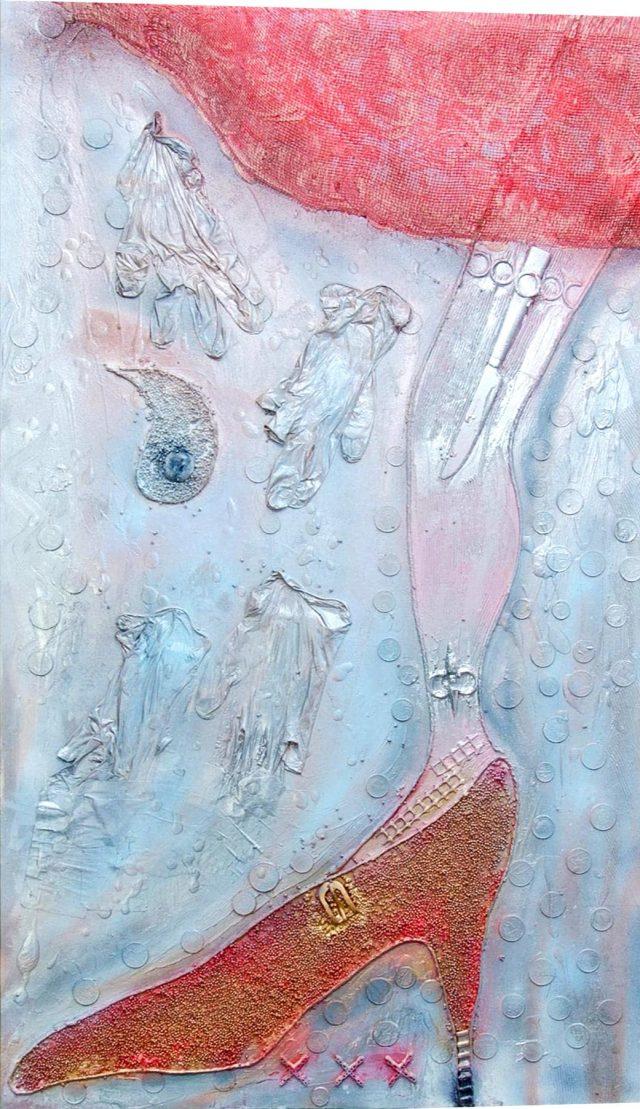 Wood collage art - Il mondo delle Donne