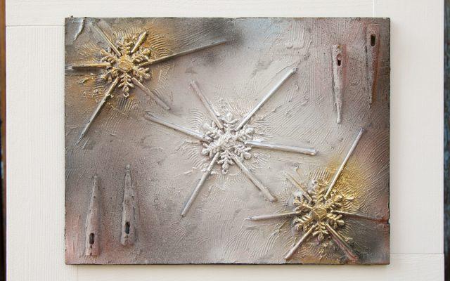 Wood collage art - Narnia