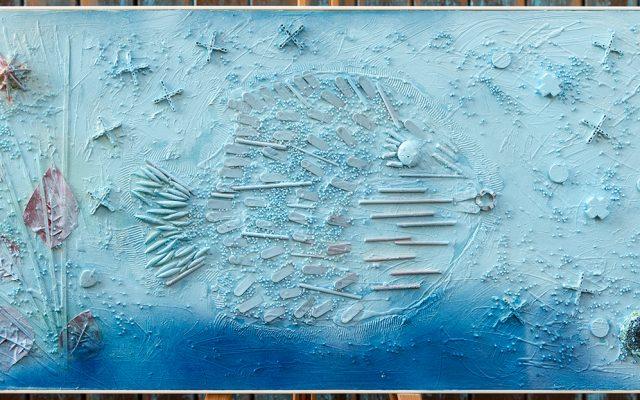 Wood collage art - Ocean-s Breakfast