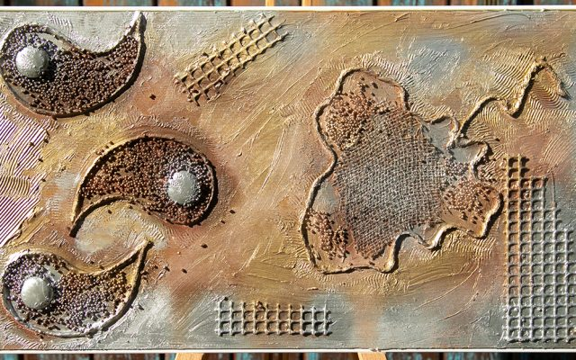Wood collage art - Out City Choline 1