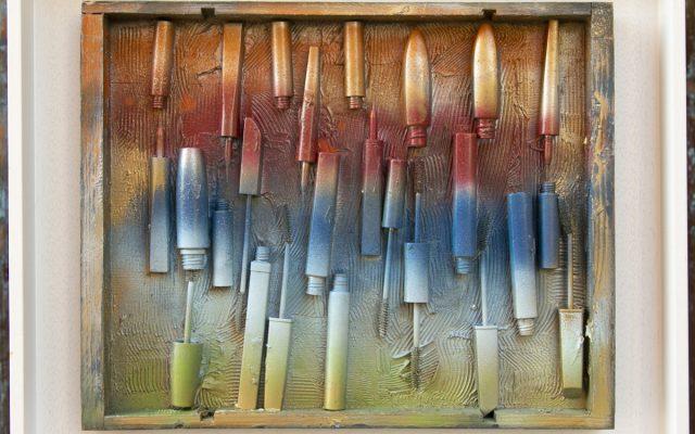 Wood collage art - Rainbow