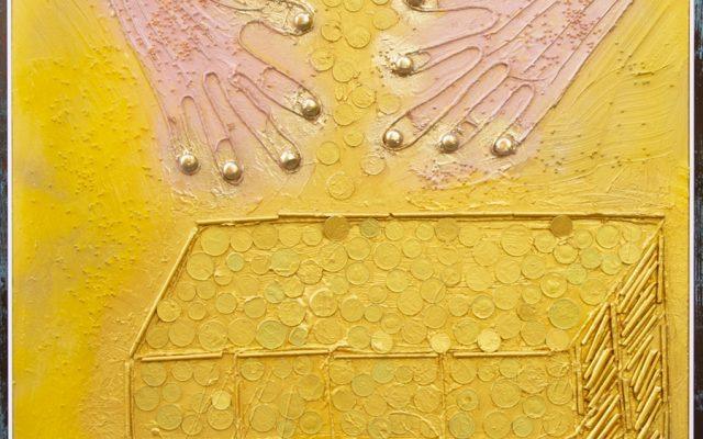 Wood collage art - SEVEN SIN - Avarizia