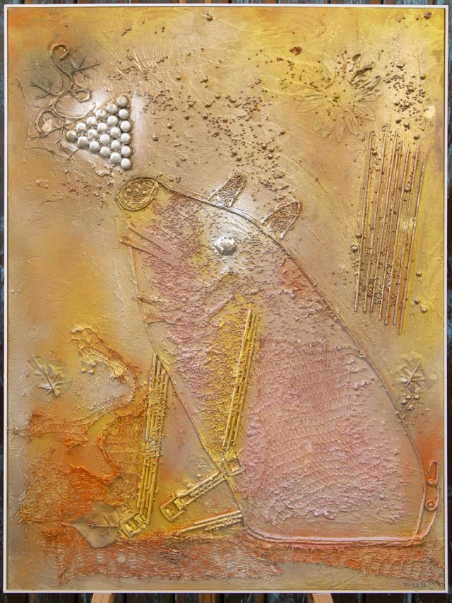 Wood collage art - SEVEN SIN - Gola