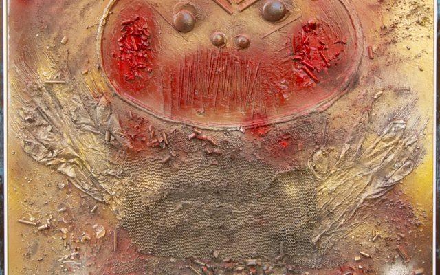 Wood collage art - SEVEN SIN - Ira