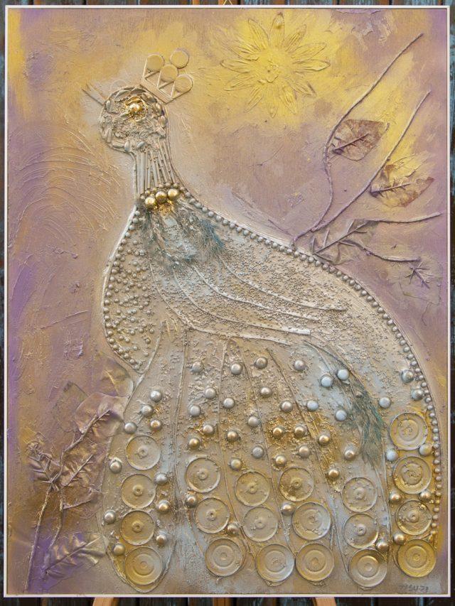 Wood collage art - SEVEN SIN - Superbia