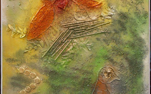 Wood collage art - SEVEN SIN - Invidia