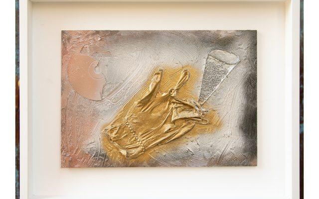 Wood collage art - Toast Bride