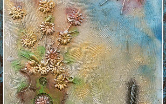 Wood collage art - Verso il Tramonto